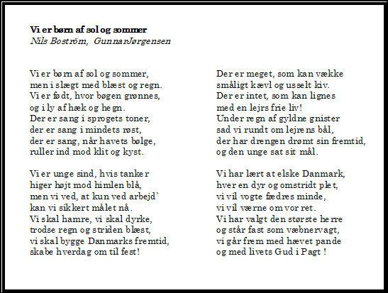 vi er børn af sol og sommer